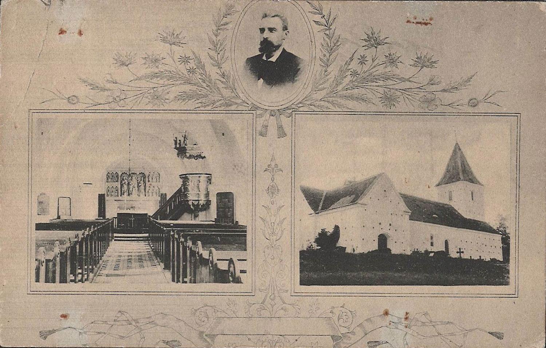Postkort af kirken ca. 1930