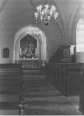 Beder Kirke efter restaureringen i 1971
