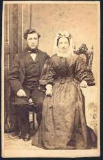 Købmand Niels Jensen og Karen. Bryllup 1863