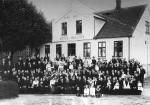 Øvle-slægtens sammenkomst i 1917 på Malling Kro, dengang Malling Hotel