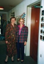 Inger Bech og Ingrid Jespersen. Foto 1992.
