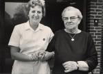 Inger Bech og Kirstine Viktor . Foto ca. 1975