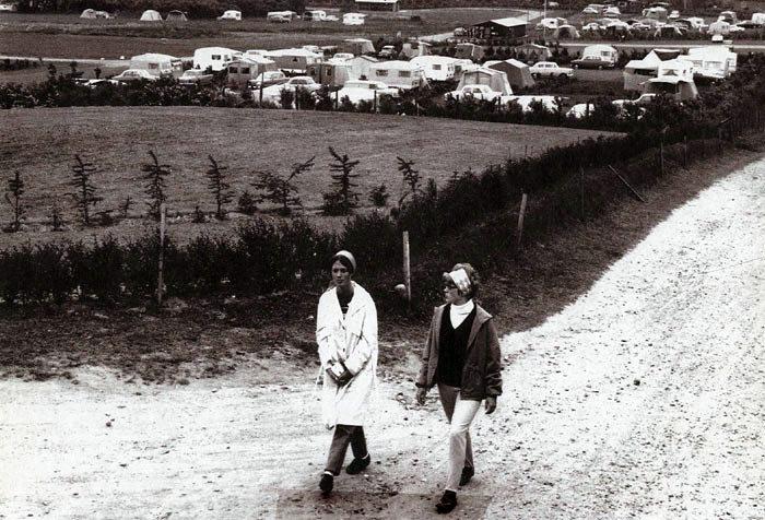 Ajstrup Campingplads i 1967, da den stadig var åben og utilgroet. Pladsen er blevet udvidet og forbedret flere gange siden.